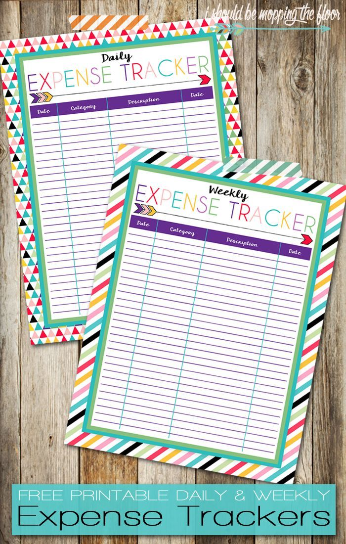 printable monthly expense sheet