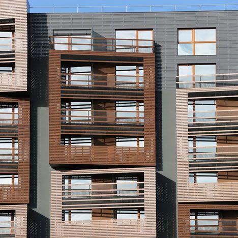 balustrades Basket Apartments by OFIS Arhitekti