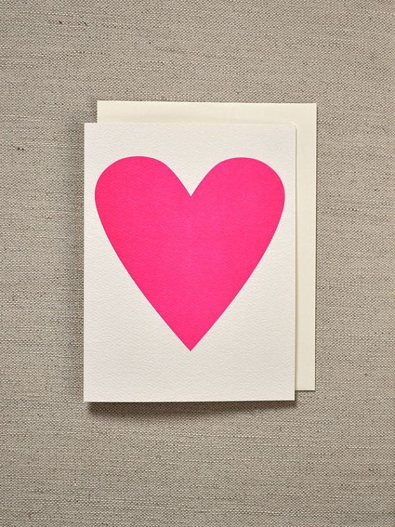 HOME | Neon Pink Heart Card
