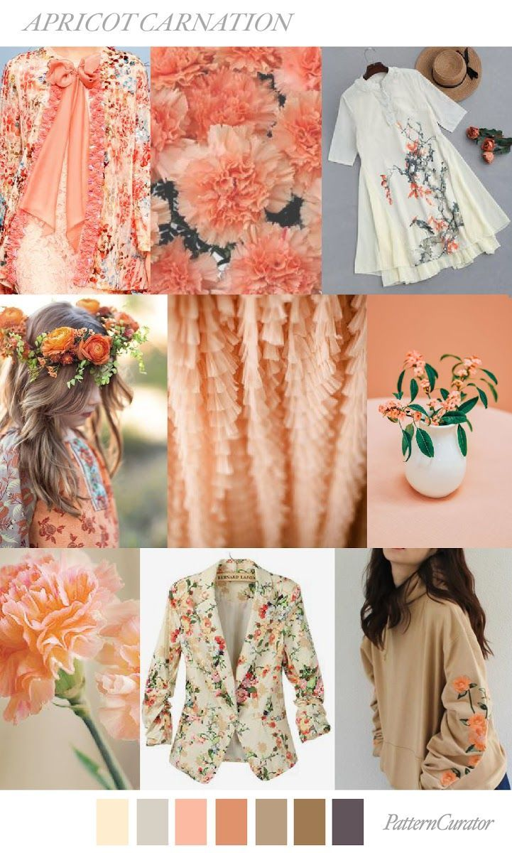 TRENDS // PATTERN CURATOR - APRICOT CARNATION . SS 2018