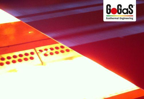 GoGaS Stahlbandtrocknung: Die Trocknung von ein- oder zweiseitig beschichteten Stahlbändern ist sowohl mit dem Porenstrahler RADIMAX, als auch mit Metallfaserstrahlern möglich. Weitere Informationen erhalten Sie unter www.gas-infrarot.com oder unter www.gogas.com.
