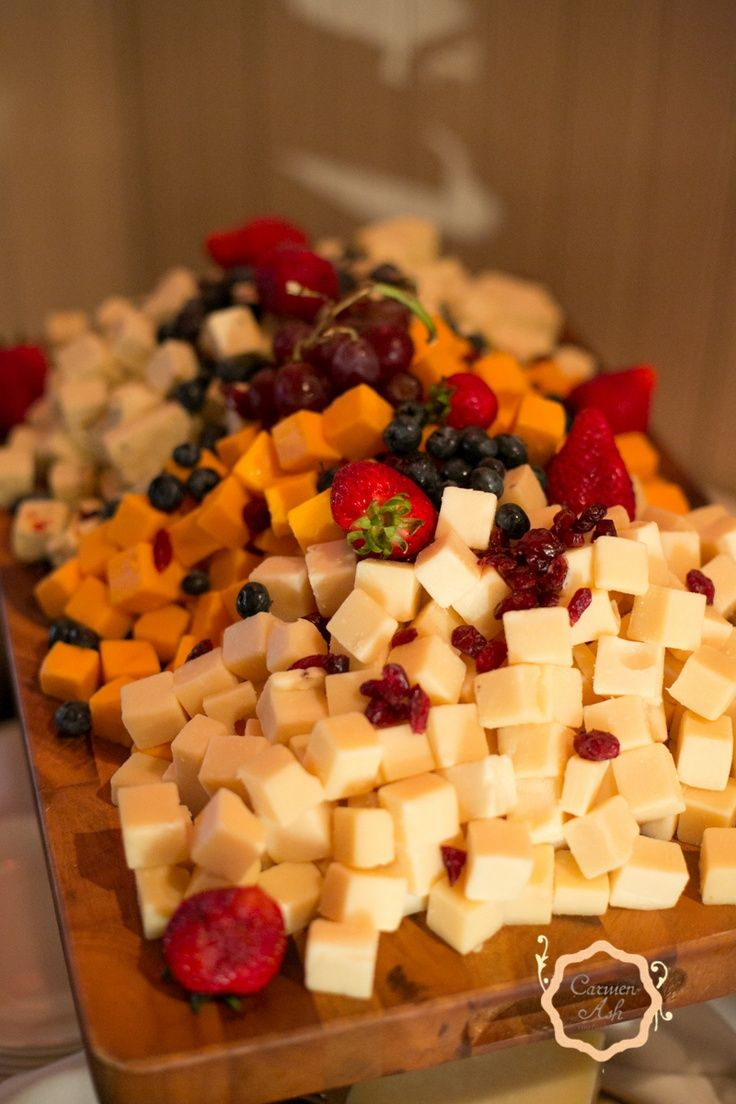 Cheese displays are perfect for cocktail hour at a wedding!