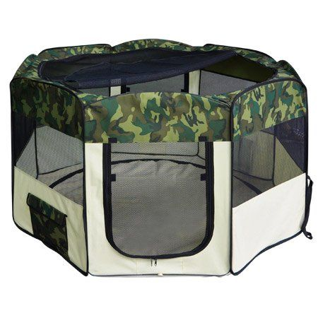 Special Offers - Traditional Green Camoflage 57 Octagon Portable Playpen Pet Dog Crate - In stock & Free Shipping. You can save more money! Check It (September 25 2016 at 12:00PM) >> http://dogcollarusa.net/traditional-green-camoflage-57-octagon-portable-playpen-pet-dog-crate/