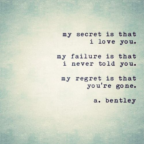 "Love Quotes To Post On Facebook: A Short Poem Called ""My Secret."" What Secrets Do You Hide"