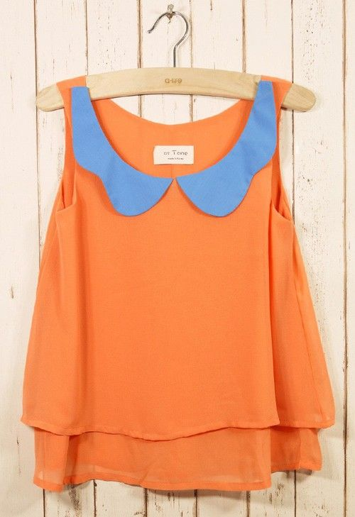 Peter Pan collar  - Click image to find more Women's Fashion Pinterest pins