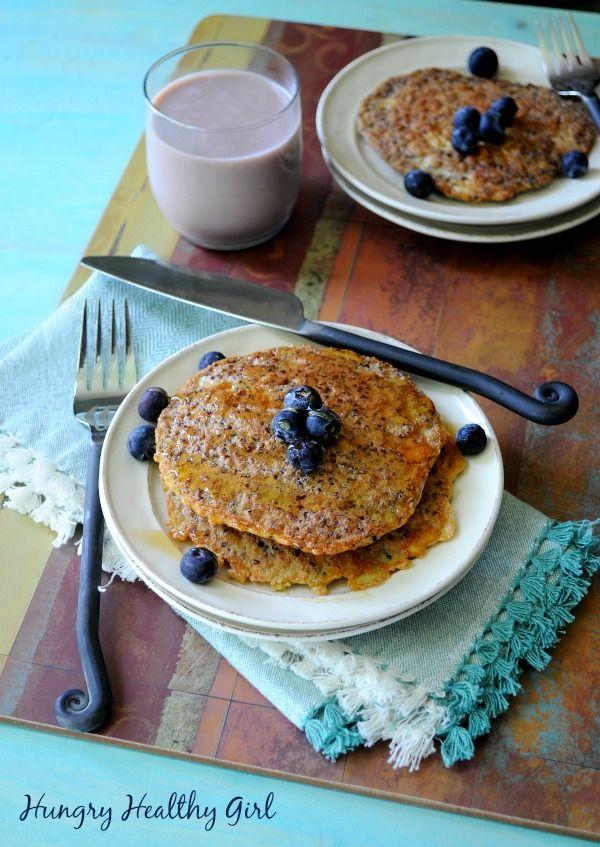 "Quinoa Pancakes Recipe -- from ""50 of the BEST Quinoa Breakfast Recipes"""