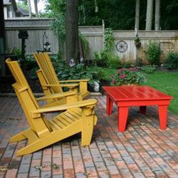 Painted Outdoor Furniture, Wood Patio Furniture, Red Coffee Tables, Front  Deck, Compliments Of, Made In Heaven, Outdoor Structures, Camping Outdoors,  ...
