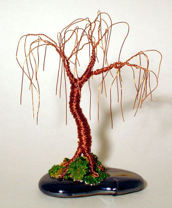 Willow of Copper  Wire Tree Sculpture Original by salvatore7, $29.00