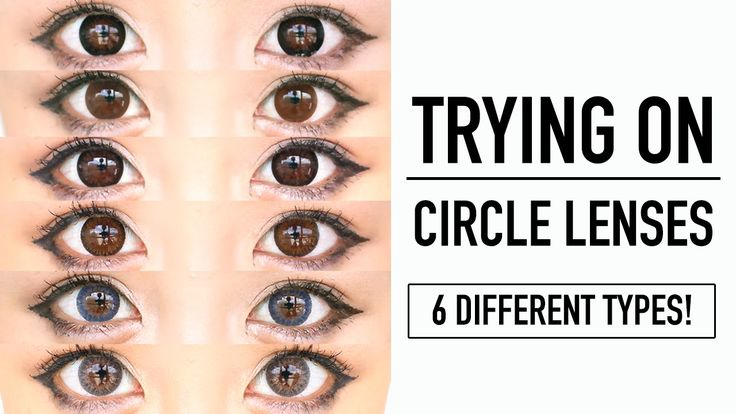 Trying on 6 Different Circle Lenses by Starlen with Before and After | T...