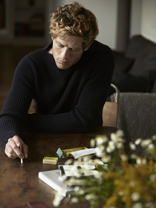 "James Norton.  Modern English actor.  Elegant and talented.  Now starring in PBS's ""Grantchester""."