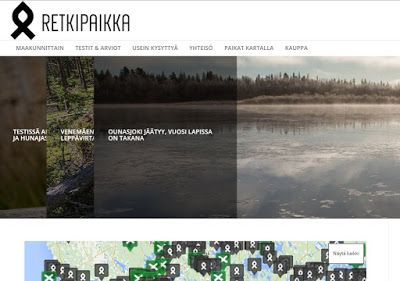 Matkailupalvelu, josta pidän: retkipaikka.fi | Internet-markkinointi-matkailua