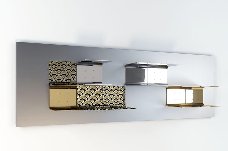 #brickell shelves, design by Marco Piva for #altreforme, #district collection #interior #home #decor #homedecor #furniture #aluminium