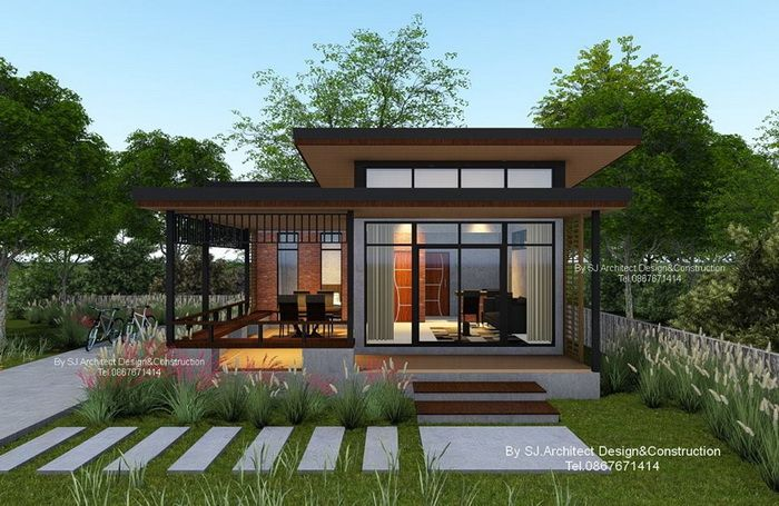 10 Modern Compact Houses For A Small Family With Floor Plans Small House Design Exterior Small House Exteriors Small House Design Architecture Small modern house plans canada