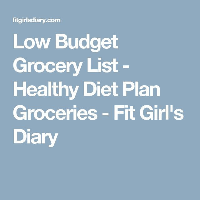 Low Budget Grocery List - Healthy Diet Plan Groceries - Fit Girl's Diary