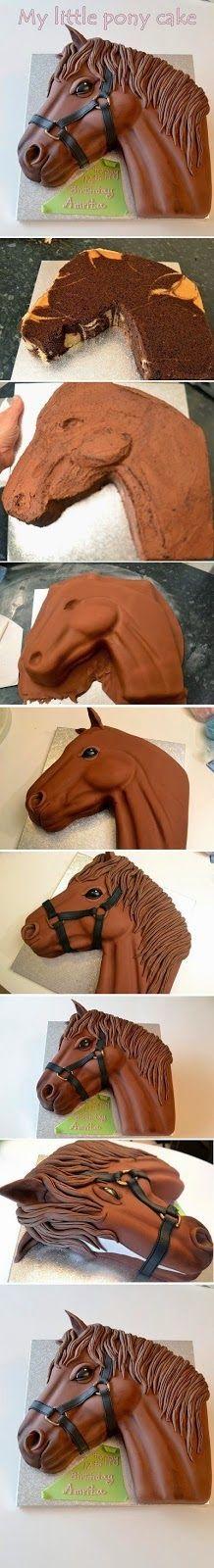 como fazer bolo cavalo sítio pasta americana
