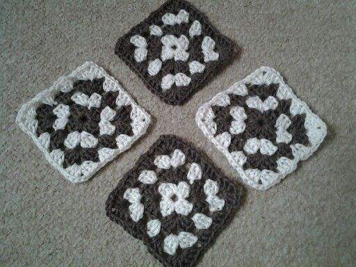 A set of coasters given to a friend's parents. I've since taught the friend to crochet so she can make her own! #crochet #coasters #handmade
