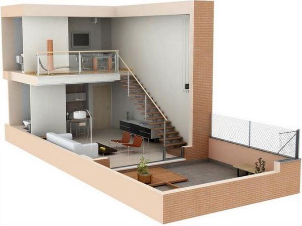 Planos de lofts modernos house plans pinterest lofts for Loft modernos exterior