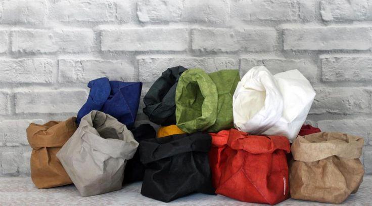 Sacos Il Sacchino en diferentes colores de Essent'ial, en @2150 Idées.