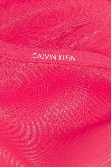 Calvin Klein Underwear - Sheer Marquisette Stretch-mesh Underwired Bra - Pink