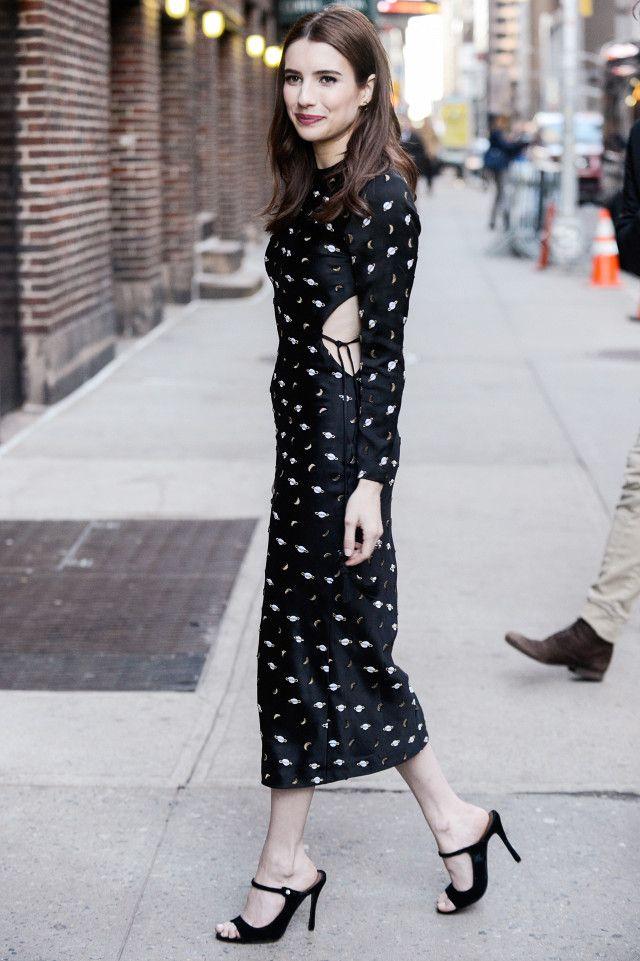 On Emma Roberts: Markarian dress.