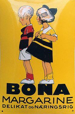 Advertising by Sven Brasch, 1929, Bona Margarine. (Danish)