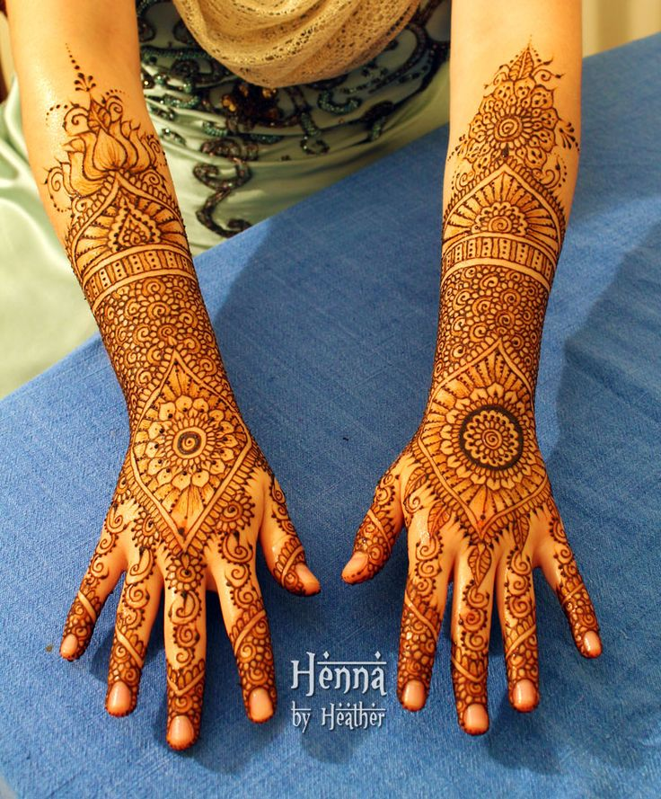 Modern Indian Bridal Henna Design
