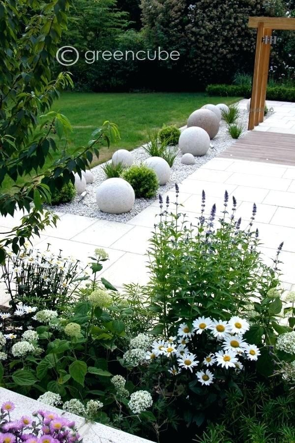 Front Yard Landscaping Ideas Clean And Modern Stone Gravel Planted Beds Central Florida Rock Garden Landscaping Modern Garden Beautiful Gardens