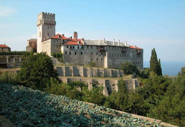 TRAVEL'IN GREECE I The monastery of #Karakallou, Exterior view