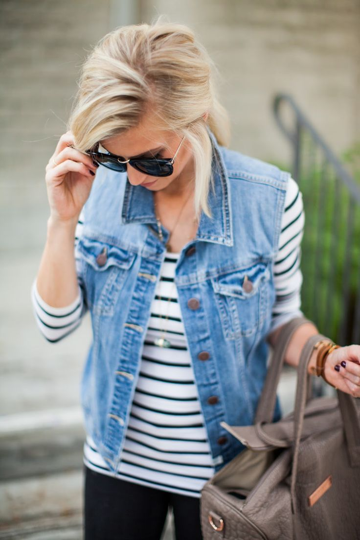 How to style a denim vest.