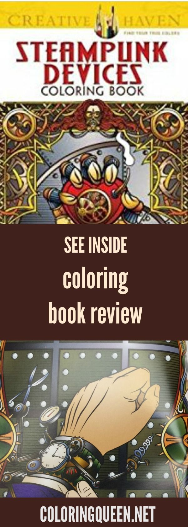 See Steampunk Devices Coloring Book Review Before You Buy This Creative Haven For Adults