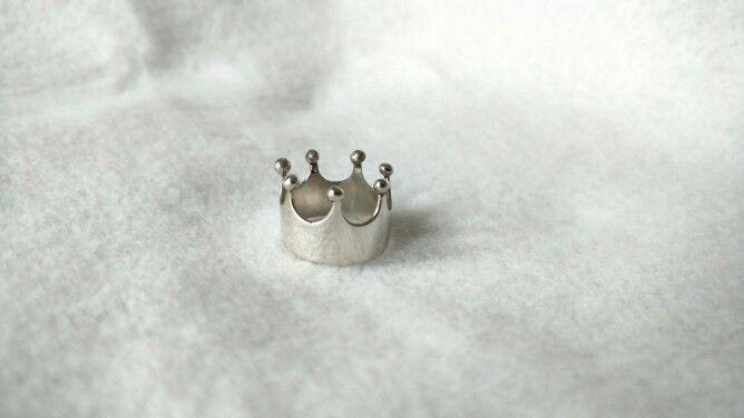 Anillo corona en plata 925