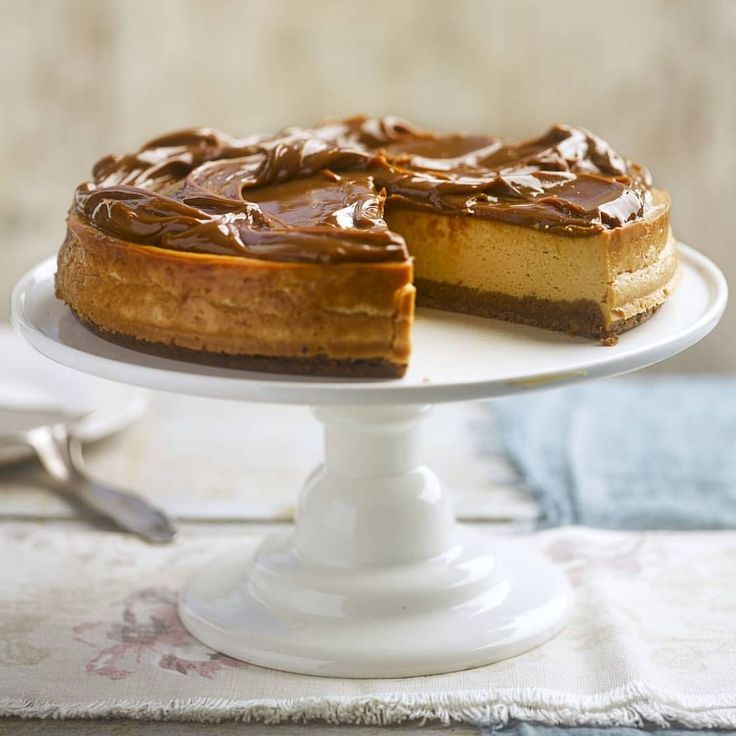 """3,743 Likes, 87 Comments - BBC Good Food (@bbcgoodfood) on Instagram: """"Nothing says 'I love you' like salted caramel cheesecake 💛Treat your mum this Mother's Day (this…"""""""