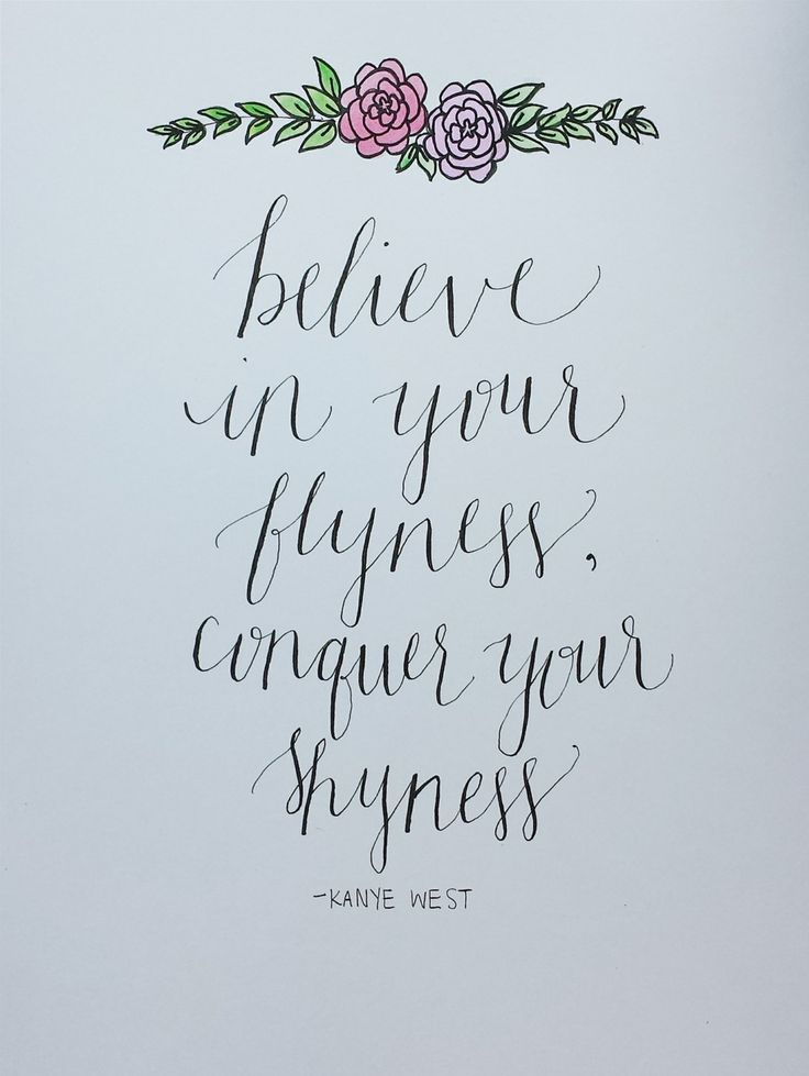 Kanye West Quote Believe in Your Flyness by aLittleBirdieToldMee