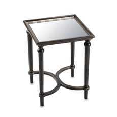 Accent Table Showcases A Mirrored Surface And Espresso Hued Legs. Product:  Accent TableConstruction Material: Solid Wood, Engineered Wood And Mirrored  ...