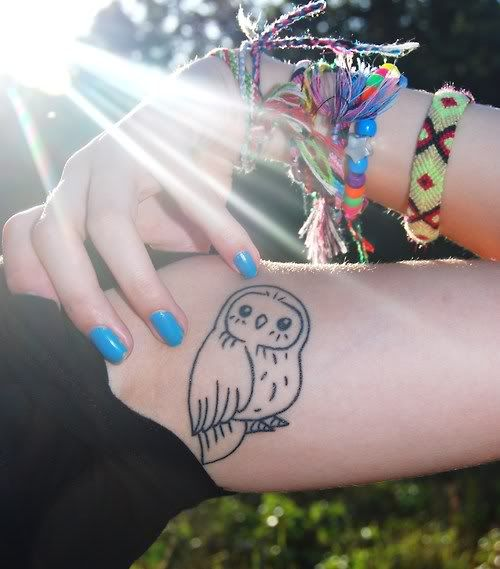 cute little owl tattoo
