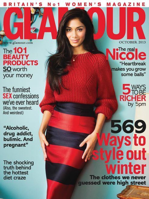 Glamour UK - October 2013 with Nicole Scherzinger