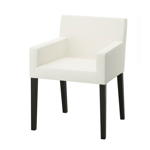 IKEA - NILS, Armchair, You sit comfortably thanks to the padded seat, padded back and armrests.The cover can be machine washed.The cover is durable as it is made of pre-washed, hardwearing twill which is a heavily woven cotton fabric.