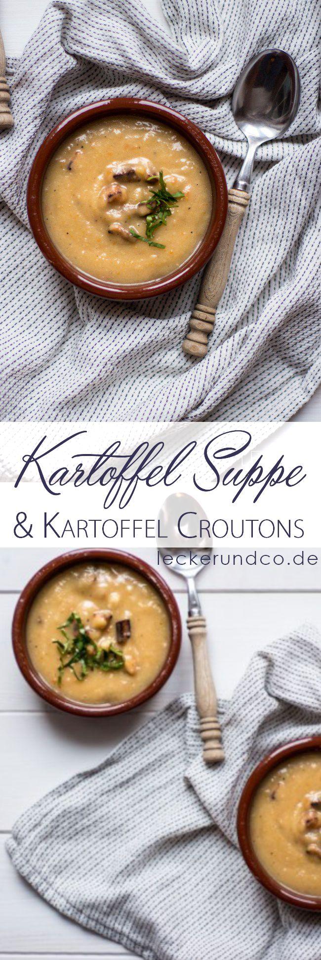 Kartoffelsuppe mit Kartoffel Croutons