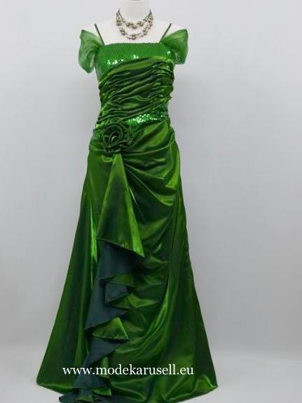 Abendkleider Online Bestellen Traum Abendkleid in Grün  www.modekarusell.eu