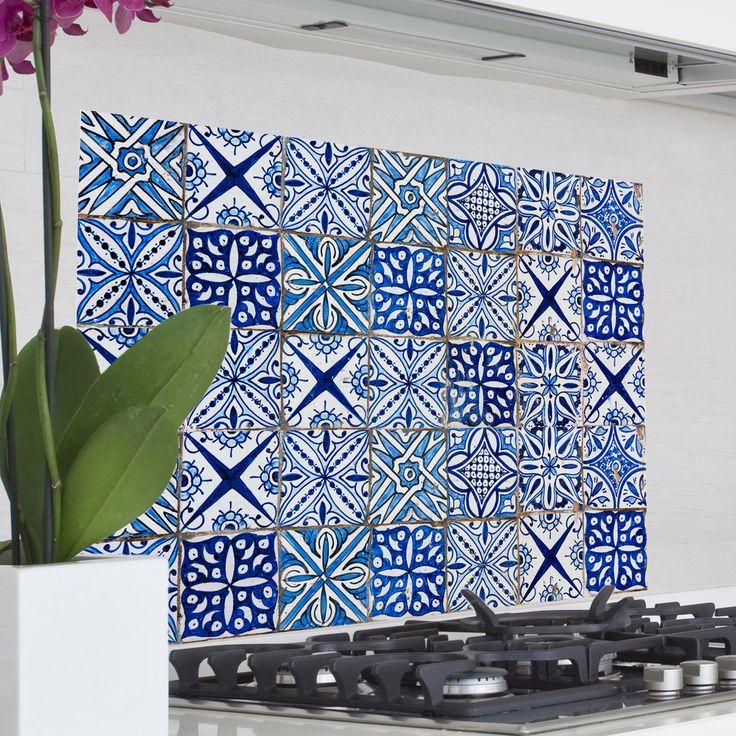 Home Decor Line Blue Azulejos Kitchen Wall Mural