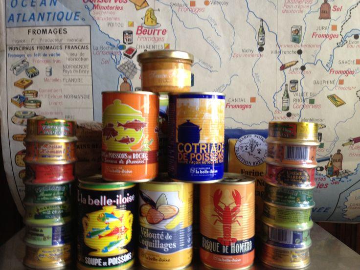 Prodotti e zuppe di pesce - Conserverie Belle-iloise