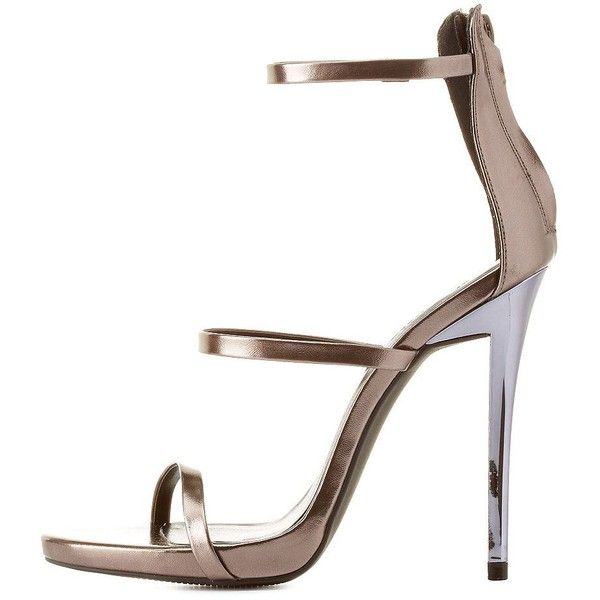 Charlotte Russe Metallic Triple Strap Dress Sandals (52 AUD) ❤ liked on  Polyvore featuring - 24 Best Pewter Heels And Purses Images On Pinterest Pewter