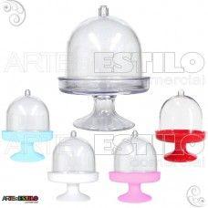 PROMOÇÃO - Embalagem c/ 10 Mini Cupula de Acrilico / Redoma de Acrilico - Só R$0,99 cada
