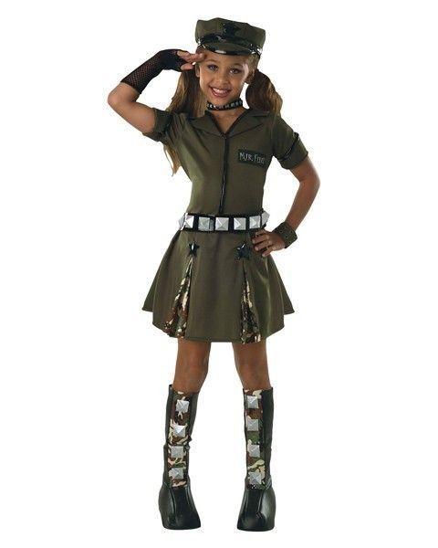 girls army halloween costume medium 8 10 for 5 7 years military soldier dress - Soldier Girl Halloween Costume