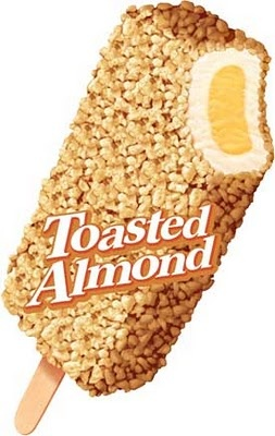 Good Humor Toasted Almond... oh so good! One of Dad's Favorites