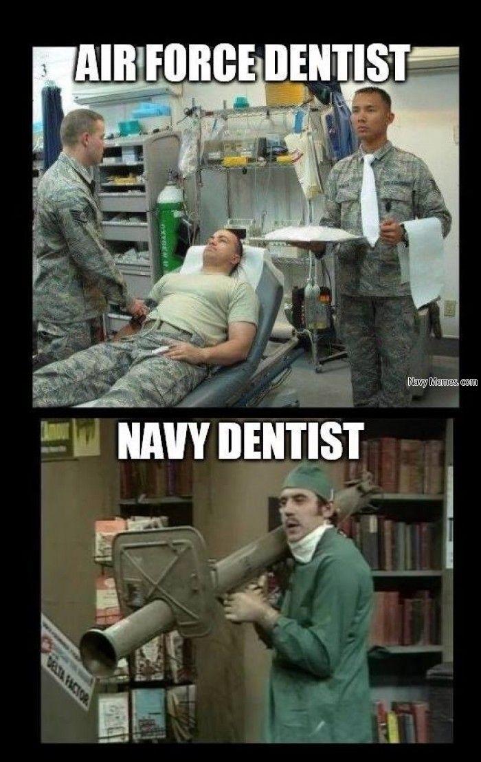Dental comparison - Navy Memes - clean mandatory fun