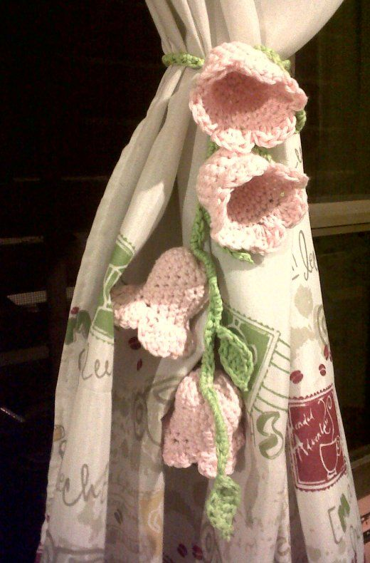 alzapaños al crochet para cortinas - Buscar con Google