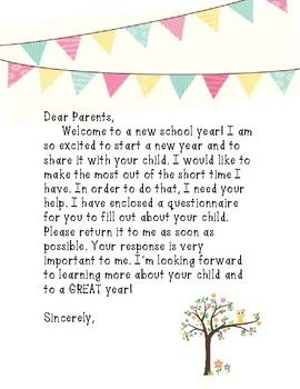 25 Best Ideas About Student Welcome Letters On Pinterest