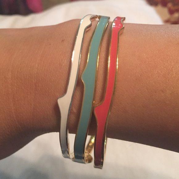 Stella and Dot bracelets ‼️sat sale‼️Aqua, white, & coral bracelets. Perfect for summer! Stella & Dot Jewelry Bracelets