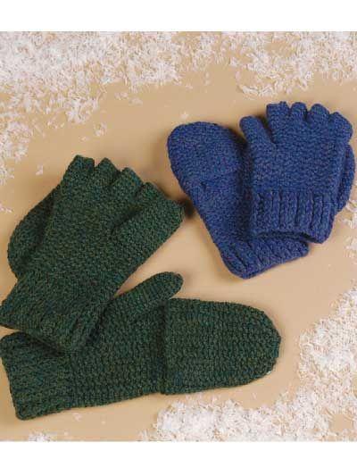 Crochet Accessories - Crochet Mittens & Gloves Patterns - Convertible Mittens -- Free Crochet Pattern